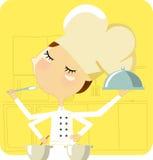 μαγειρεύοντας γυναίκα Στοκ Φωτογραφία