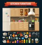 μαγειρεύοντας εικονίδι Έπιπλα και εργαλεία κουζινών ελεύθερη απεικόνιση δικαιώματος