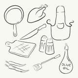 Μαγειρεύοντας εξοπλισμός κουζινών διανυσματική απεικόνιση