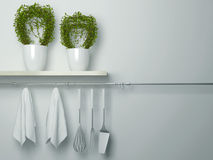 Μαγειρεύοντας εργαλεία κουζινών Στοκ εικόνα με δικαίωμα ελεύθερης χρήσης