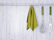 Μαγειρεύοντας εργαλεία κουζινών ελεύθερη απεικόνιση δικαιώματος
