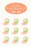 μαγειρεύοντας θέση Στοκ φωτογραφίες με δικαίωμα ελεύθερης χρήσης