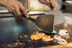 Μαγειρεύοντας θαλασσινά Στοκ Εικόνες