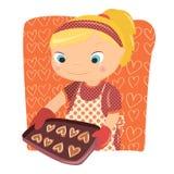 μαγειρεύοντας κορίτσι Στοκ Εικόνα