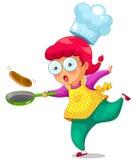 Μαγειρεύοντας κορίτσι Στοκ Φωτογραφίες