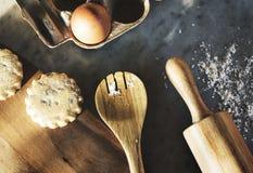 Μαγειρεύοντας κουζίνα συστατικών προετοιμασιών μαγειρική στοκ φωτογραφίες