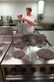 μαγειρεύοντας κουζίνα Στοκ εικόνα με δικαίωμα ελεύθερης χρήσης
