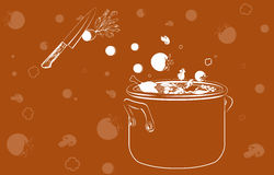 μαγειρεύοντας λαχανικά σούπας Στοκ Φωτογραφίες