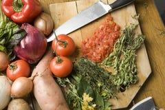 μαγειρεύοντας λαχανικά Στοκ Εικόνες