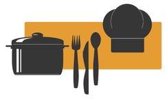 μαγειρεύοντας λογότυπ&omic Στοκ φωτογραφία με δικαίωμα ελεύθερης χρήσης