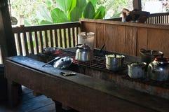 Μαγειρεύοντας μέρος στο Περού Στοκ Φωτογραφία