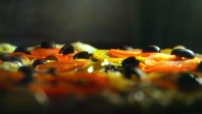 Μαγειρεύοντας πίτσα κολάζ 4K απόθεμα βίντεο