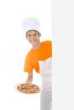 μαγειρεύοντας πίτσα Στοκ Φωτογραφία