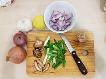 Μαγειρεύοντας προετοιμασία και συστατικά τροφίμων Στοκ Φωτογραφία