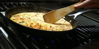 Μαγειρεύοντας σάλτσα κρέμας αστακών Στοκ Εικόνες