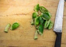 Μαγειρεύοντας σαλάτα λαχανικών Στοκ Εικόνες