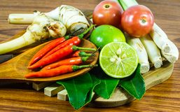 Μαγειρεύοντας σούπα ή πικάντικη ξινή σούπα Tom Yum Goong του Tom Yum διάφορων λαχανικών και συστατικών καρυκευμάτων γαρίδων ποταμ Στοκ εικόνες με δικαίωμα ελεύθερης χρήσης