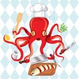 μαγειρεύοντας σούσια χταποδιών ψαριών Στοκ εικόνες με δικαίωμα ελεύθερης χρήσης