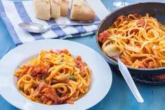 μαγειρεύοντας συστατικά ιταλικά τροφίμων Στοκ Εικόνα