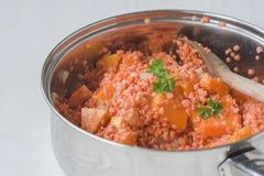 μαγειρεύοντας τρόφιμα υ&gamm Στοκ φωτογραφία με δικαίωμα ελεύθερης χρήσης