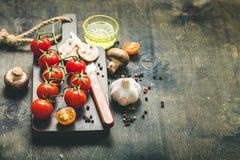 Μαγειρεύοντας υπόβαθρο τροφίμων Στοκ Φωτογραφίες