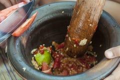Μαγειρεύοντας SOM Tum της Ταϊλάνδης Στοκ φωτογραφία με δικαίωμα ελεύθερης χρήσης