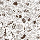 Μαγειρική - άνευ ραφής υπόβαθρο Στοκ εικόνα με δικαίωμα ελεύθερης χρήσης