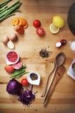Μαγειρική έννοια κουζινών συστατικών προετοιμασιών μαγειρέματος στοκ εικόνα με δικαίωμα ελεύθερης χρήσης