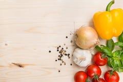 Μαγειρική ανασκόπηση τροφίμων Στοκ Εικόνες