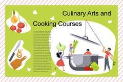 Μαγειρική τέχνη και μαγειρεύοντας αφίσα σειρών μαθημάτων στοκ φωτογραφίες