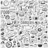 Μαγειρική τροφίμων doodles Στοκ Εικόνα