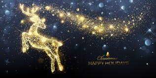 Μαγικά ελάφια Χριστουγέννων διανυσματική απεικόνιση
