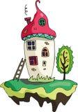 Μαγικά μανιτάρια σπιτιών παιχνιδιού νεράιδων Στοκ εικόνα με δικαίωμα ελεύθερης χρήσης