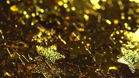 Μαγικά μειωμένα χρυσά αστέρια απόθεμα βίντεο