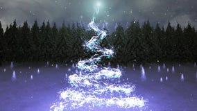 Μαγικά Χριστούγεννα με Santa ελεύθερη απεικόνιση δικαιώματος