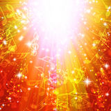 Μαγική έκρηξη με τα αστέρια και τις σημειώσεις μουσικής Στοκ φωτογραφία με δικαίωμα ελεύθερης χρήσης