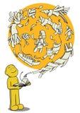 μαγική ανάγνωση Στοκ εικόνες με δικαίωμα ελεύθερης χρήσης