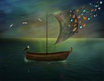 Μαγική βάρκα ελεύθερη απεικόνιση δικαιώματος