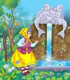μαγική ηλικιωμένη γυναίκα  Διανυσματική απεικόνιση