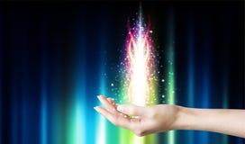 Μαγική θεραπεύοντας ενέργεια στοκ εικόνες