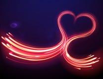 μαγική μορφή καρδιών Στοκ εικόνα με δικαίωμα ελεύθερης χρήσης