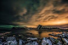 Μαγική νύχτα σε Sandnes Στοκ φωτογραφίες με δικαίωμα ελεύθερης χρήσης
