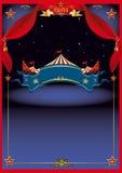 μαγική νύχτα τσίρκων Στοκ εικόνα με δικαίωμα ελεύθερης χρήσης