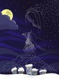 Μαγική νύχτα διανυσματική απεικόνιση