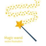 Μαγική ράβδος με ένα αστέρι απεικόνιση αποθεμάτων