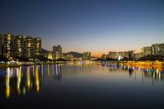 Μαγική στιγμή του ποταμού της Shing Mun Στοκ εικόνες με δικαίωμα ελεύθερης χρήσης