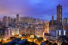 Μαγική ώρα Χονγκ Κονγκ Στοκ Εικόνα