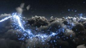 Μαγικός ακτινοβολήστε ίχνος πέρα από τον ουρανό φιλμ μικρού μήκους