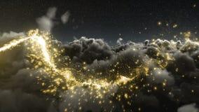 Μαγικός ακτινοβολήστε ίχνος πέρα από τον ουρανό απόθεμα βίντεο