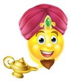 Μαγικός λαμπτήρας Emoji μεγαλοφυίας Στοκ Φωτογραφίες